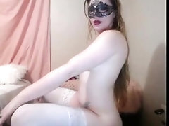 Mrs Tease gets and gives BJ during cam session!