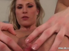 Harmony Rose in super-bitch cuckold episodes of creampie licking scorching wifey dominatrix while hubby watches and is locked in chastity