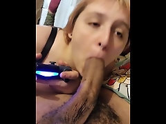 Sucking Daddy's BBC While Toying Xbox🤪