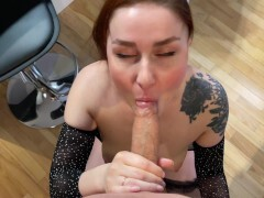 Facial cumshot and Hotel Sex with Redhead wife KleoModel FULL