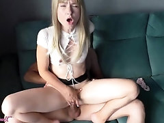 Stiff Doggystyle Nailing Woman in Magnificent Miniskirt and Deepthroat