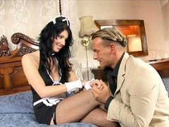 PAWG Maid Seduce to Raunchy Pound by Chief when his Wife away
