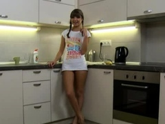 Staggering russian lady Gina loves vagina BJ's