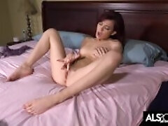 Handsome Redhead Teenager Dirty dances On Her Magic wand to Spunk
