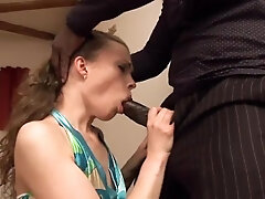 Russian ass fucking D/s takes a big black cock deeply