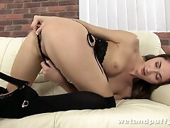 Russian woman Aruna Aghora plays with her vagina