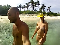 THE WALKING Naked - Unexperienced Russian couple!