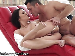 Congenital Russian Honey Packed with Passion for Ass fucking Intrusion