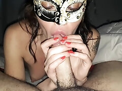 Highly warm Russian Chick deepthroating a fat dick with lust