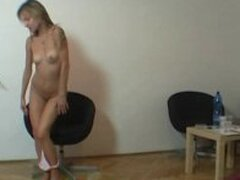 Backstage naked show with real czech beauty