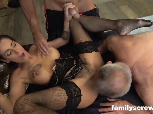 Grandpa And Uncle Hire A Mature Stripper With Dirty Gunther