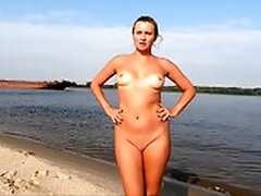 Nude Lady in the village and Russian Sea