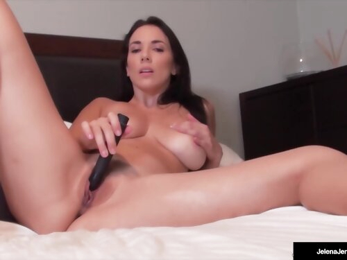 Busty Pet Jelena Jensen Cant Stop Cumming With Her Black Bullet!