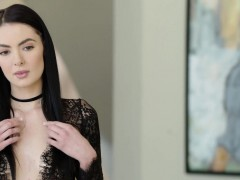 BLACKED Marley Brinx very first bbc in her ball-sac