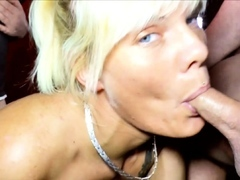Creampie Gangbang Soiree with German Lean Mummy Stacy Lou