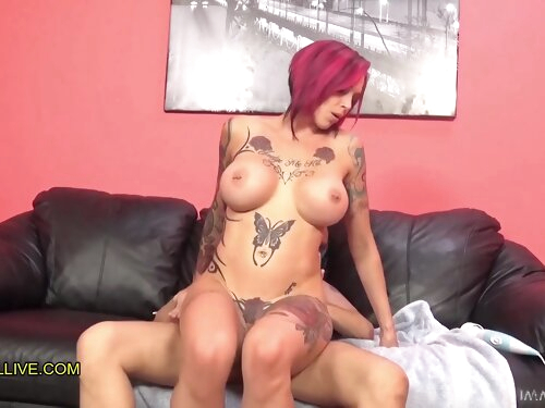 Anna Bell Peaks Tattooed Sex Goddess With Perfect Pink Pussy & Matching Hair Epic Squirting Fuck Fest! – Part 3