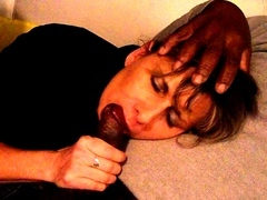 Lisa pounded by 2 blacks in front of her cuckold spouse